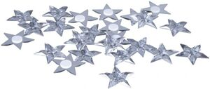 Streudeko - Sterne - aus Kunststoff - Ø = 3 cm - 24 Stück