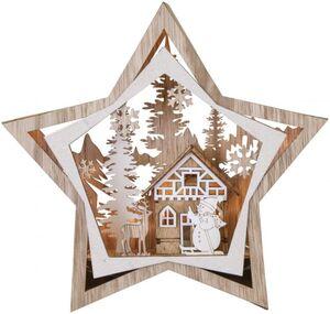 LED-Stern - aus Holz - Ø = 30,5 cm