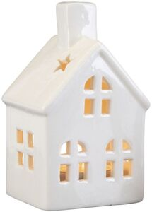 Windlicht - Haus - aus Keramik - 7 x 6 x 11,5 cm