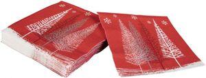 20 Servietten - Tannenbäume - 24 x 24 cm