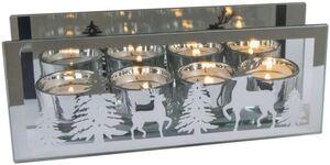 Teelichthalter - aus Glas - 24 x 6 x 9,5 cm
