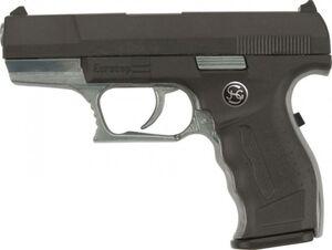 13er Spielzeugpistole - EuroCop - schwarz/silber