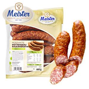 Meister Mettenden/Bauernbratwurst jede 800-g-SB-Packung