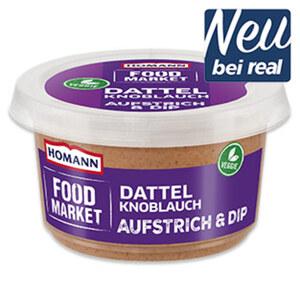 Homann Food Market Aufstrich & Dip Dattel Knoblauch und weitere Sorten jede 150-g-Packung