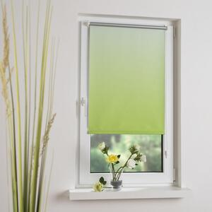 Bella Casa Klemmfix-Rollo Verdunkelung, 80 x 150 cm, Farbverlauf grün
