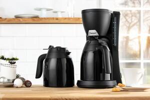 Bestron Kaffeeautomat mit 2 Thermokannen mit Einhandbedienung