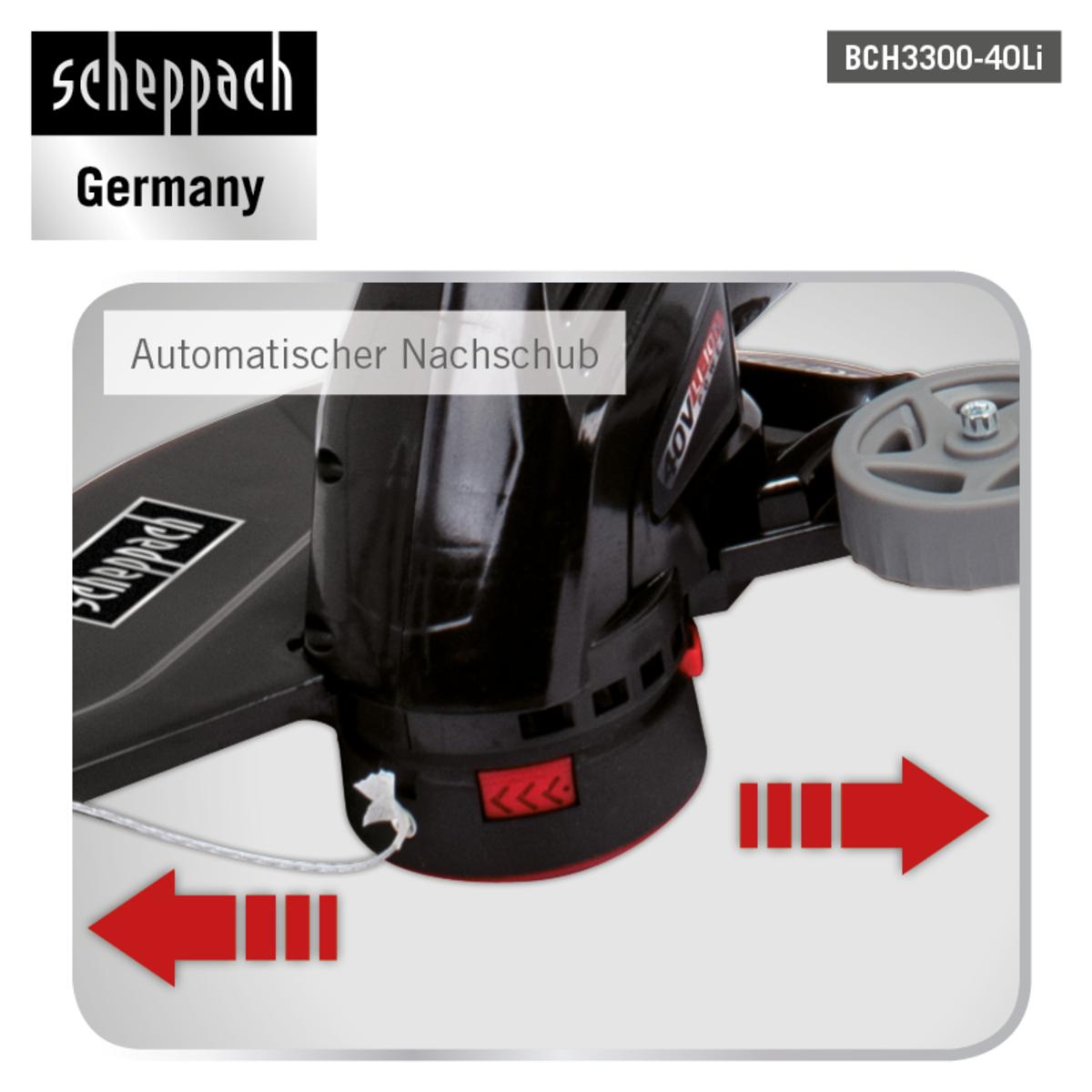 Bild 4 von Scheppach Akku-Rasentrimmer BCH3300-40Li