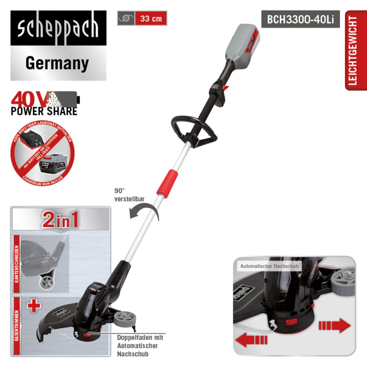 Bild 5 von Scheppach Akku-Rasentrimmer BCH3300-40Li