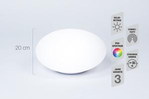 Telefunken RGB-LED Solar-Gartenleuchte 30 cm - Oval