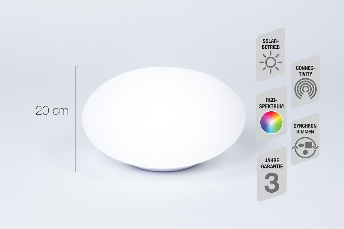 Bild 1 von Telefunken RGB-LED Solar-Gartenleuchte 30 cm - Oval