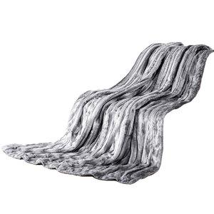 Dreamtex Luxus-Decke in Nerzfelloptik, ca. 150 x 200 cm - Wolfsgrau