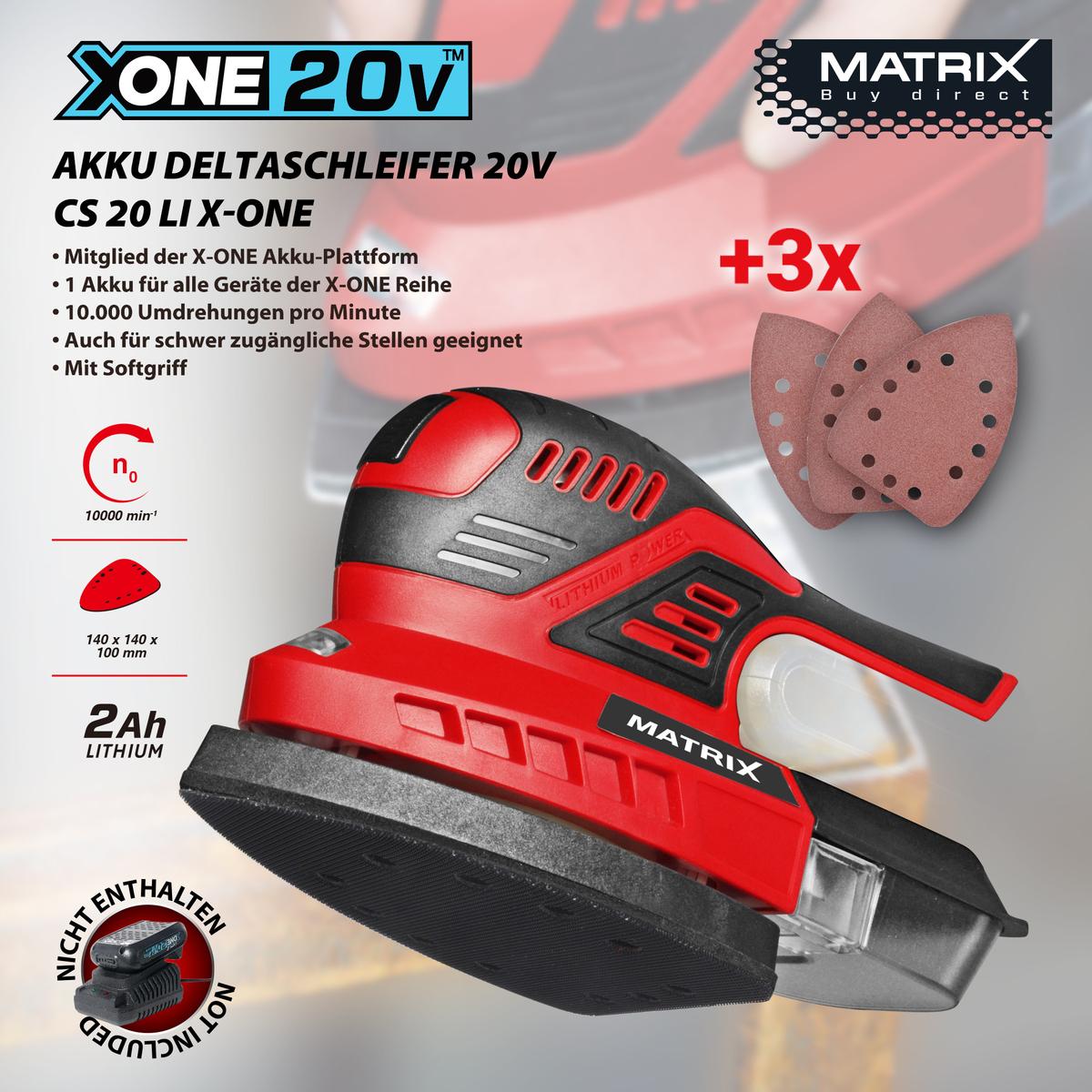 Bild 1 von Matrix X-One Akku Deltaschleifer 20V