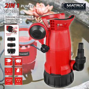 Matrix 2in 1 Pumpe 750W SP 750
