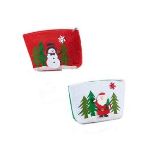 Filztasche mit Weihnachtsmotiv klein in versch. Designs