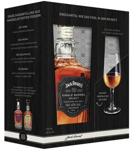 Jack Daniel's Single Barrel Select Tennessee Whiskey + Jeff Arnett Nosing Glas Geschenkset | 45 % vol | 0,7 l