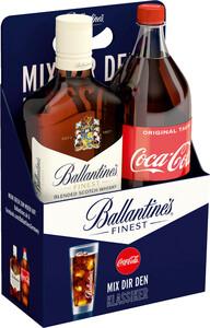 Ballantine's Finest Blended Scotch Whisky + 1 l  Flasche Coca Cola Geschenkpackung | 40 % vol | 0,7 l