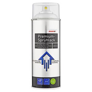 toom Premium-Sprühlack seidenmatt weißaluminium 400 ml
