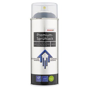 toom Premium-Sprühlack RAL 9005 'Tiefschwarz' seidenmatt 400 ml