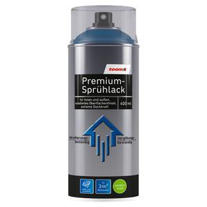 toom Premium-Sprühlack RAL 5010 'Enzianblau' seidenmatt 400 ml