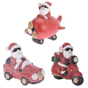 LED-Figur Weihnachtsmann aus Keramik in drei Ausführungen
