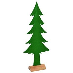 Standdeko Tannenbaum aus Filz 64 cm mit Baumstamm