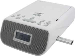 Soundmaster URD860WE CD-Uhrenradio mit MP3/USB - weiß