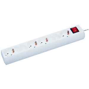 8-fach Steckdosenleiste - weiß - mit Schalter - Kabel 1,5 Meter