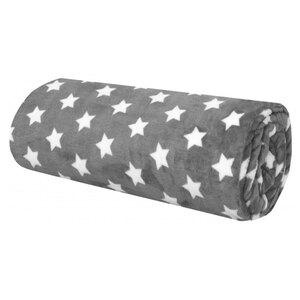 Meterware - grau - weiße Sterne - 140 cm breit