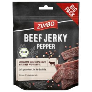 Zimbo Bio Beef Jerky Pepper 75g
