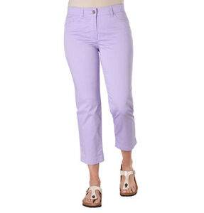 "Gerry Weber Hose ""Romy"", Straight Fit, 7/8-Länge, Logo-Patch, lavendel, 36/REG"