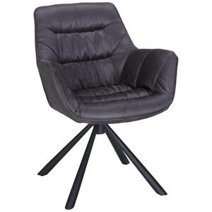 Stuhl in Grau/Schwarz