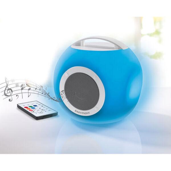 Easymaxx LED-Bluetooth Tischleuchte mit Lautsprecher, weiß, weiß