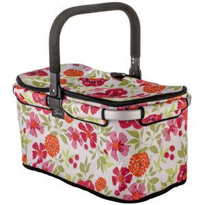 Genius Einkaufskorb mit Alurahmen, Blumenprint, bunt, bunt