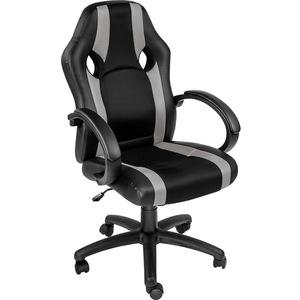 Racing Bürostuhl mit Streifen schwarz/grau