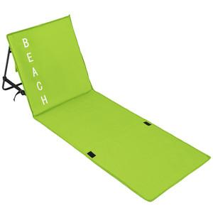 Strandmatte mit verstellbarer Lehne grün