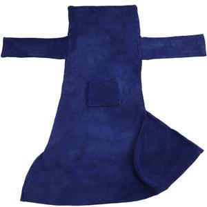 2 Kuscheldecken mit Ärmeln blau 200 x 170 cm