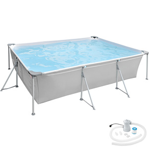 Swimming Pool rechteckig mit Filterpumpe 300 x 207 x 70 cm