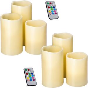 2 Sets LED-Kerzen mit Fernbedienung und Farbwechsel