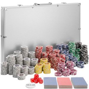 Pokerset inkl. Aluminiumkoffer silber 1000 Teile