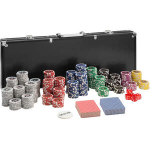 Pokerset inkl. Aluminiumkoffer schwarz 500 Teile