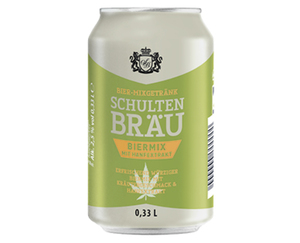 Schultenbräu Bier-Mixgetränk mit Hanfextrakt