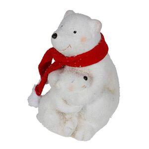 Keramik-Figur Eisbär mit Kind 11x16,5x13cm
