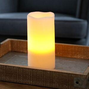 LED-Wachskerze 10x24,5cm Elfenbein