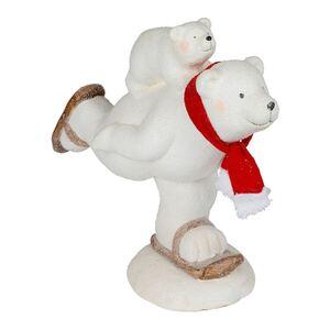 Magnesia-Figur Eisbär auf Schlittschuhen 44x39x21cm