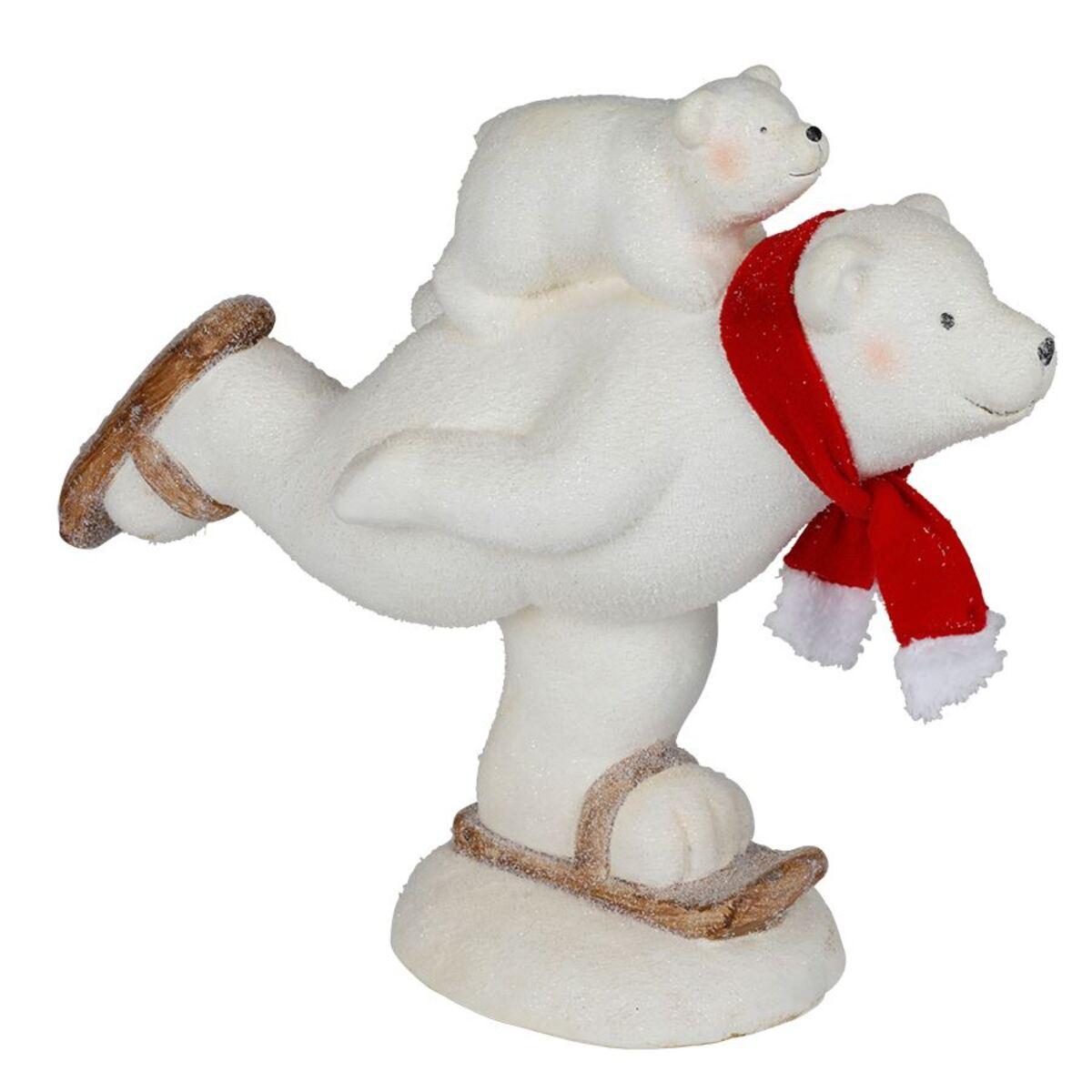 Bild 2 von Magnesia-Figur Eisbär auf Schlittschuhen 44x39x21cm