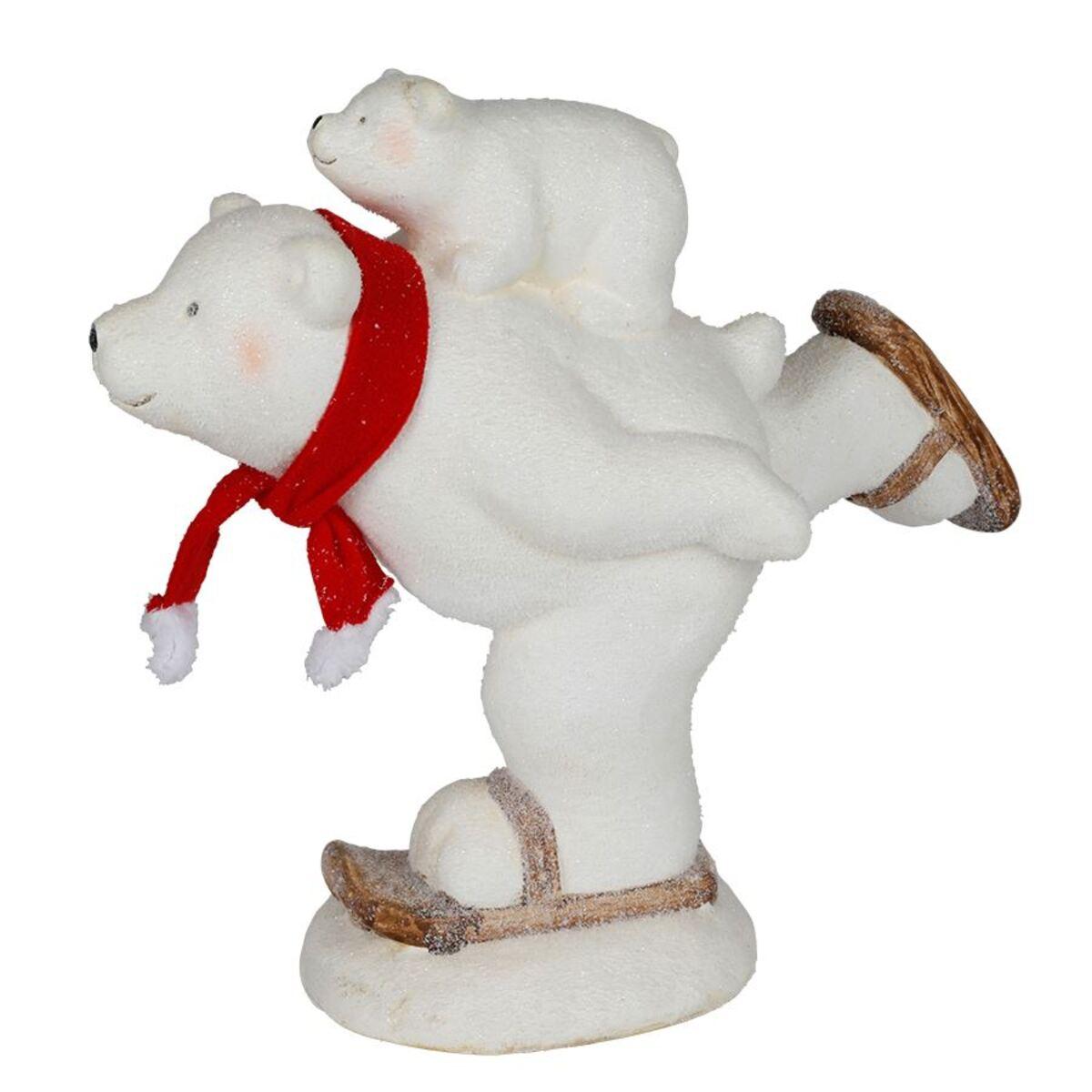 Bild 3 von Magnesia-Figur Eisbär auf Schlittschuhen 44x39x21cm