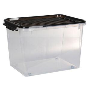 Systembox mit Deckel und Rollen 55x39x37cm 60L