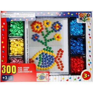 Steckspiel mit 300 bunten Steckbausteinen