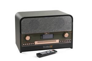 Retro Bluetooth DAB+/FM Stereo-Radio mit CD-Player & USB Technaxx