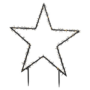 LED-Weihnachtsleuchte Gartenstecker Stern